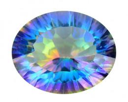 4.15 Cts Rare Millennium Cut Fancy Multi Colors Natural Mystic Topaz