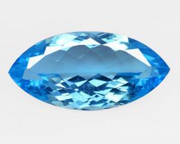 Topaz 23.16 Cts HUGE Natural Super Swiss Blue Color