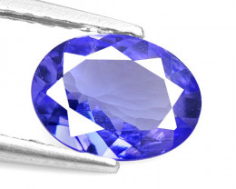 0.85 Cts 7.5x5.5 mm Violet Blue Color Natural Tanzanite Gemstone
