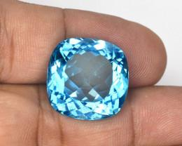 *NoReserve* 29.08 Carat HUGE Cut Super Swiss Blue Natural Topaz Gemstone