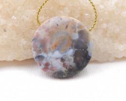59Ocean Jasper Pendant ,Natural Ocean Jasper ,Heart Pendant ,Wholesale H103