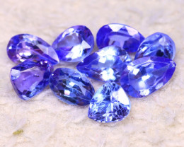 Tanzanite 6.07Ct 9Pcs Natural Purplish Blue Tanzanite DK0603/D3