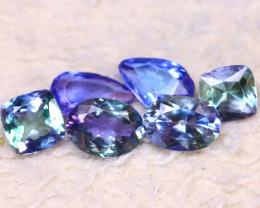 Tanzanite 6.38Ct 6Pcs Natural VVS Purplish Blue Tanzanite DK0604/D3