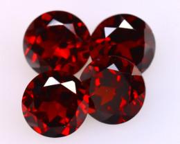 Almandine 4.30Ct 4Pcs Natural Vivid Blood Red Almandine Garnet DF0601/B1