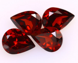 Almandine 4.98Ct 4Pcs Natural Vivid Blood Red Almandine Garnet DF0604/B1