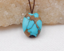 14.5cts Turquoise Pendant ,Natural Gemstone ,Turquoise Pendant H1043