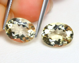 Bytownite 3.27Ct 2Pcs Oval Cut Natural Yellow Bytownite AB4621