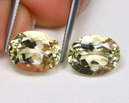 Bytownite 3.76Ct 2Pcs Oval Cut Natural Yellow Bytownite AB4631