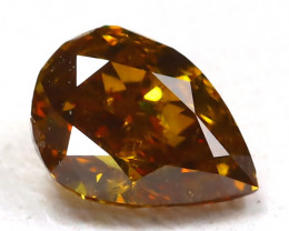 Orange Diamond 0.20Ct Natural Untreated Fancy Diamond AB4591