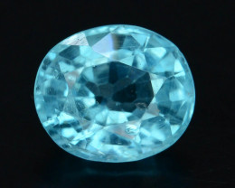 Top Color 1.20 Ct Natural Blue Apatite with Flouresecent