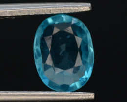 Top Color 1.15 Ct Natural Blue Apatite with Flouresecent