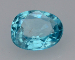 Top Color 0.75 Ct Natural Blue Apatite with Flouresecent