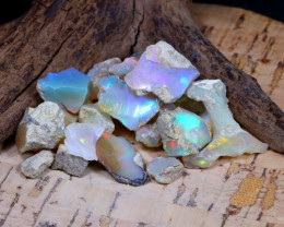43.68Ct Bright Color Natural Ethiopian Welo Opal Rough AB4643