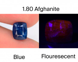 Afghanistan Afghanite 1.80 Ct Natural Fluorescent