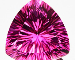 6.27 Cts Candy Pink Natural Topaz 12mm Concave Trillion Cut Brazil