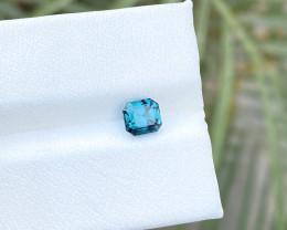1 Ct Natural Blue Indicolite Transparent  VVS Tourmaline Ring Size Gemstone