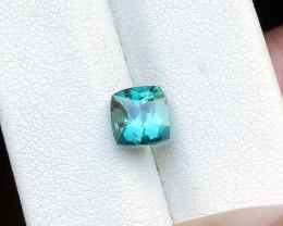1.70 Ct Natural Blueish Green Transparent Tourmaline Ring Size Gemstone