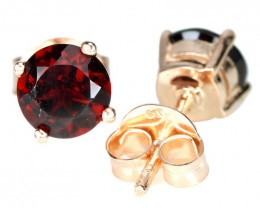 6.45Ct Sterling Silver 925 Natural Red Garnet Earring A1145