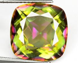 Mystic Topaz 7.13 Cts Rare Fancy Aurora Borealis Color Natural Gemstone