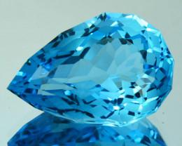 ~CUSTOM CUT~ 10.12 Cts Pretty Natural Blue Topaz Fancy Drop Cut Brazil