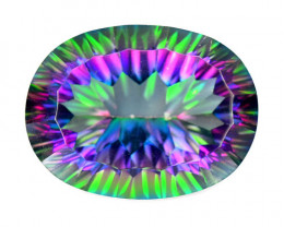 20.62 Cts Rare Fancy Multi Color Natural Mystic Topaz