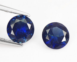 *NoReserve* Ceylon Sapphire 1.18 Cts 2 Pcs Blue Natural Fancy Gemstone