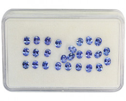 5.42 Cts 26 Pcs 4x3mm Oval Natural Fancy Blue  Sapphire Loose Gemstone