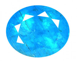 Neon Blue Apatite 3.25 Cts Un Heated Natural Loose Gemstone