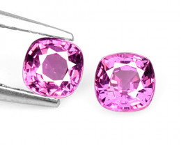 Pink Sapphire 0.54 Cts 2 Pcs Amazing Rare Natural Fancy Loose Gemstone