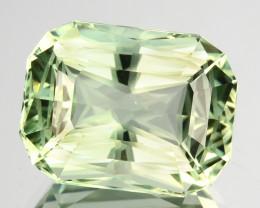~CUSTOM CUT~7.75 Cts Natural Green Prasiolite / Amethyst Cushion Fancy Bra