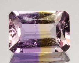 3.08 Cts Natural Bi-Color Ametrine Octagon (Emerald Cut) Bolivia