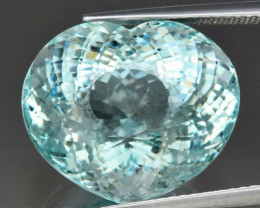 Big! 17.62 ct 17x14.4mm Heart Natural Unheated Greenish Blue Aquamarine, Br