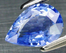Dazzling! 1.07ct 7.4x5.2mm Pear Natural Pastel Blue Sapphire Ceylon