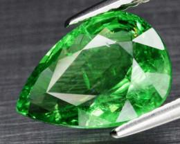 3.09 ct 11.3x8mm Pear Natural Vibrant Green Tsavorite Garnet, Tanzania