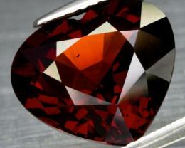 Big! 6.88ct 12.4x11mm VS Heart Natural Orangish Red Spessartite Garnet, Nam