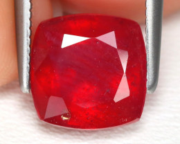Red Ruby 3.17Ct Square Cut Pigeon Blood Red Ruby B4922