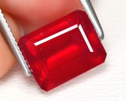Red Ruby 3.07Ct Octagon Cut Pigeon Blood Red Ruby B4923