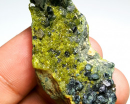 Stunning Natural color Diposite combine with lovely Epidote and Garnet 100C