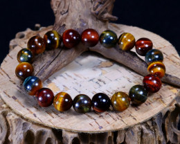 145.55Ct Natural Fancy Tiger Eye Beads Bracelet AB4991