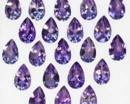 15.60 Cts Natural Purple Amethyst 8 X5mm Pear Cut 21Pcs Bolivia