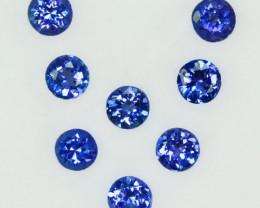 2.58Ct Natural Purple Blue Tanzanite Round 4mm Calibrated