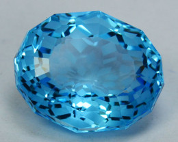 ~CUSTOM CUT~8.60 Cts Natural Baby Blue Topaz Fancy Oval Cut USA
