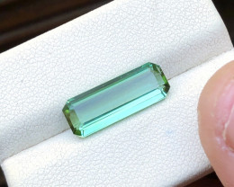 3.70 Ct Natural Green Transparent Tourmaline Gemstone