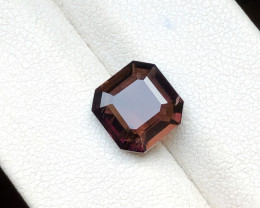 2.60 Ct Natural Dark Reddish Transparent Tourmaline Gemstone