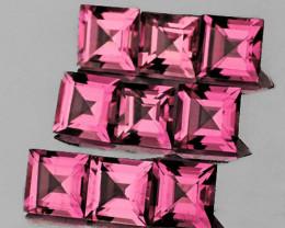 3.00 mm Square 9 pcs 1.47cts Orange Pink Tourmaline [VVS]