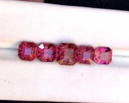 8.15 Carats Natural Asscher Cut Tourmaline Gemstones