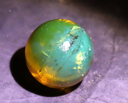 Biggest Natural Clear Blue Green Amber  Sphere Round Be