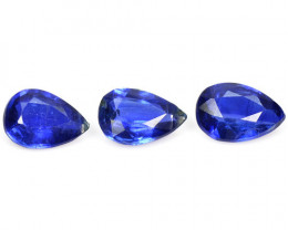 *NoReserve*Kyanite 2.13 Cts 3Pcs Fancy Royal Blue Natural Gemstone