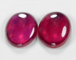 0.85 Cts 2 pcs Pinkish Red Natural Ruby BURMA Loose Gemstone