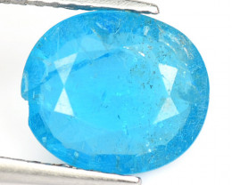 Apatite 2.09 Cts Un Heated Natural Neon Blue Loose Gemstone